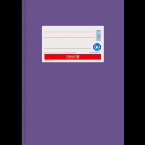 """Brunnen Heftumschlag Hefthülle Recyclingkarton DIN A5  """"violett"""" (Heftschoner) 104055560"""