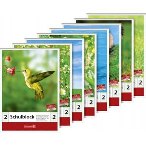 Brunnen Schulblock DIN A5 50 Blatt Lineatur 2
