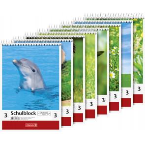 Brunnen Spiralblock DIN A5 40 Blatt Lineatur 3