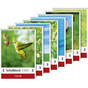 Brunnen Schulblock DIN A5 Lineatur 3 50 Blatt
