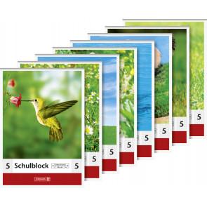 Brunnen Schulblock DIN A5 Lineatur 5 50 Blatt