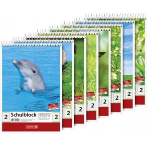 Brunnen Spiralblock DIN A5 Lineatur 2 40 Blatt