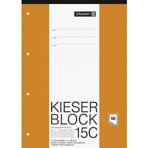 Brunnen Kieserblock A4 50 Blatt Lineatur 15C kariert