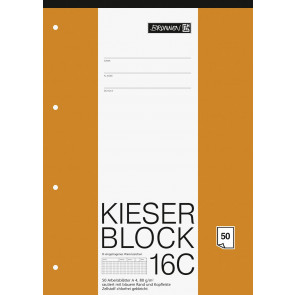 Brunnen Kieserblock A4 1042926 Lineatur 16C rautiert 50Bl