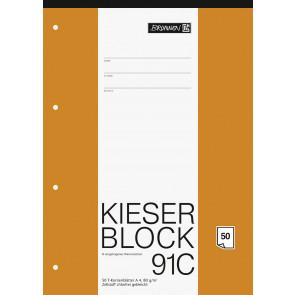 Brunnen Kieserblock A4 1042931 Lineatur 91C T-Konten 50Bl