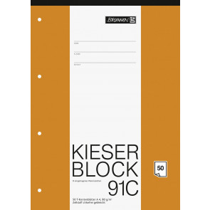 Brunnen Kieserblock A4 1042931 Liniatur 91C T-Konten 50Bl