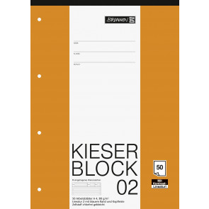 Brunnen Kieserblock A4 50 Blatt Lineatur 02 liniert