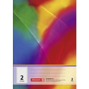 BRUNNEN Schulheft FSC A4 Lineatur 2 liniert 32 Blatt