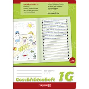 Brunnen Geschichtenheft DIN A4 Lineatur 1G 16 Blatt