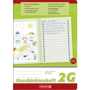 Brunnen Geschichtenheft DIN A4 Lineatur 2G 16 Blatt