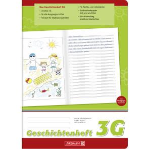 Brunnen Geschichtenheft DIN A4 Lineatur 3G 16 Blatt