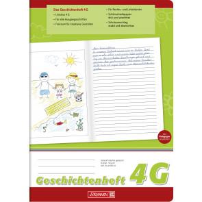 Brunnen Geschichtenheft DIN A4 Lineatur 4G 16 Blatt