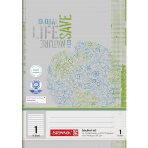 Brunnen Schulheft DIN A5 16 Blatt Lineatur 1 liniert Recycling