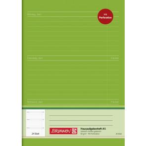 Brunnen Hausaufgabenheft A5 1046913 80 g/m² 24 Blatt perforiert
