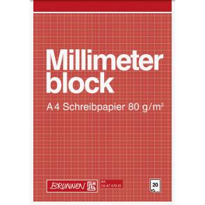 Brunnen MillimeterblockA420Bl Schreibpapier