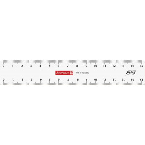 Brunnen Flexi-Lineal 15 cm glasklar