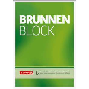 "Brunnen Block ""BRUNNEN-Block"" A5 unliniert"