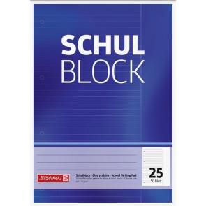 Brunnen  Schulblock A4 1052525 Lineatur 25 liniert 50 Blatt