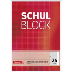 Brunnen  Schulblock A4 1052526 Lineatur 26 kariert 50 Blatt