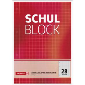 Brunnen Schulblock A4 1052528 Lineatur 28 kariert 50 Blatt