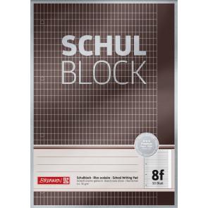 Brunnen Schulblock A4 1052608 Lineatur 8f kariert 50 Blatt Premium