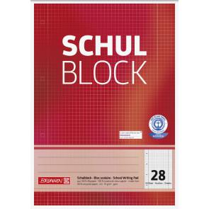 Brunnen Schulblock A4 105260801 Lineatur 28 kariert 50 Blatt