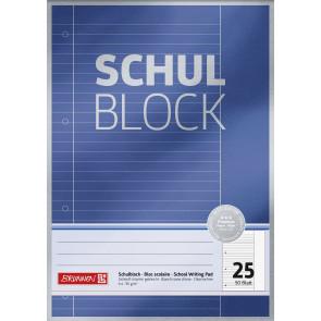 Brunnen Schulblock A4 1052625  Lineatur 25 liniert 50 Blatt Premium