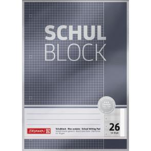 Brunnen Schulblock A4 1052626 Lineatur 26 kariert 50 Blatt Premium