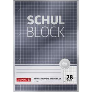 Brunnen Schulblock A4 1052628  Lineatur 28 kariert 50 Blatt Premium