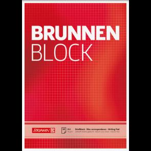"""Brunnen Briefblock """"BRUNNEN-Block"""" DIN A4 kariert"""