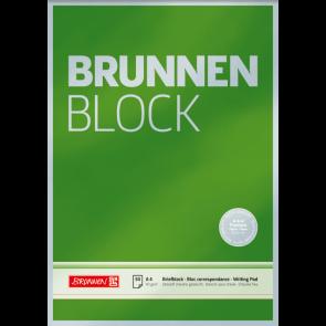 "Brunnen Briefblock Premium ""BRUNNEN-Block"" DIN A4 unliniert"