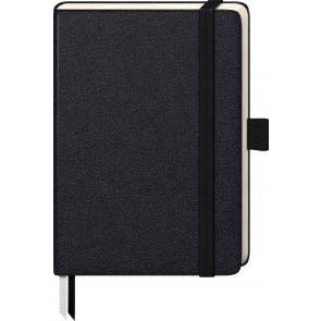 Brunnen Notizbuch Kompagnon A6 105521605 blanko 80 g/m² 96 Blatt schwarz