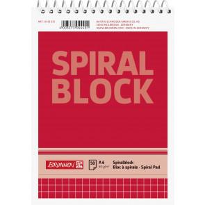 Brunnen Spiralnotizblock DIN A6 kariert 50 Blatt