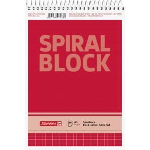 Brunnen Spiralnotizblock DIN A5 kariert 50 Blatt