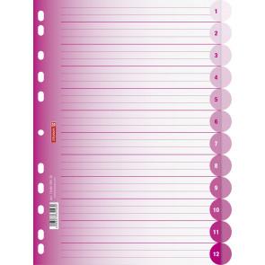 Brunnen Ringbuchregister A4 12teilig pink