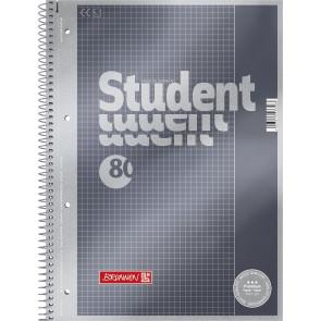 Brunnen Collegeblock A4 1067126 Lineatur 26 kariert 80 Blatt Premium