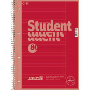 Brunnen Collegeblock DIN A4 Lineatur 25 80 Blatt Red