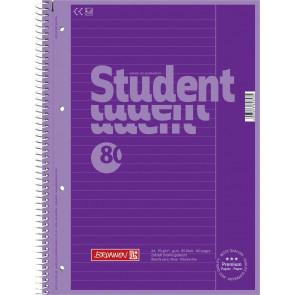 Brunnen Collegeblock DIN A4 Lineatur 25 80 Blatt Purple