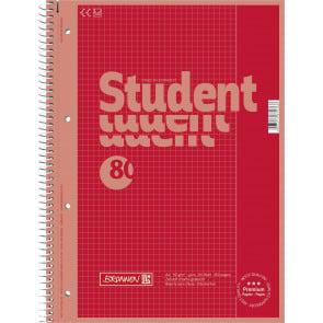 Brunnen Collegeblock DIN A4 Lineatur 26 80 Blatt Red