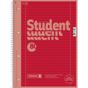 Brunnen Collegeblock DIN A4 Lineatur 27 80 Blatt Red