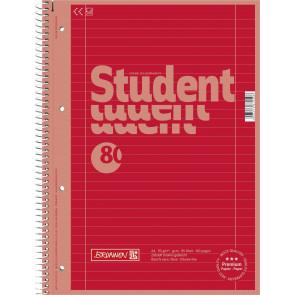 Brunnen Collegeblock DIN A4 Lineatur 27 80 Blatt Red