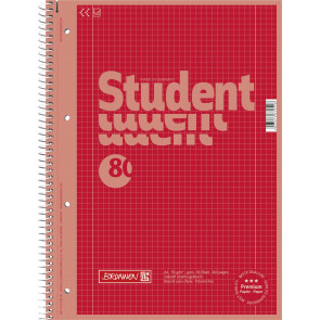 Brunnen Collegeblock DIN A4 Lineatur 28 80 Blatt Red