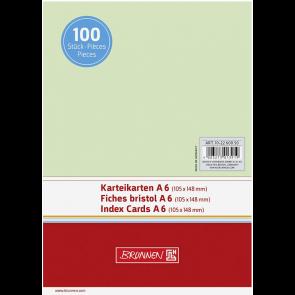 """Brunnen DIN A6 Karteikarte blanko 102260050 """"grün"""""""