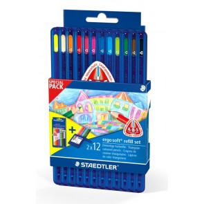 Staedtler Farbstift Ergo Soft 3kant Promopackung je 1x Farbstifte 157SB12