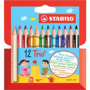 Stabilo Farbstift dreikant Kurz- Dick 12Er-Etui Stabilo 2051201
