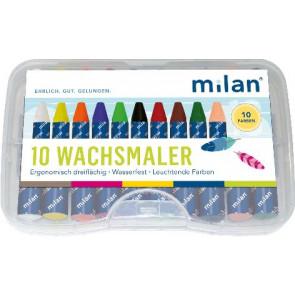 Milan Milan-Wachsmalkreide 10er wasserfest dreikant 331-10