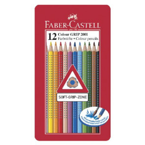 Faber Castell Farbstifte Grip Normal 12er Blechetui 112413