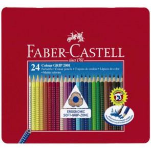 Faber Castell Farbstifte Grip Normal 24er Blechetui 112423