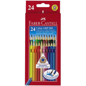 Faber Castell Farbstifte Grip Normal 24er Pappetui 112424