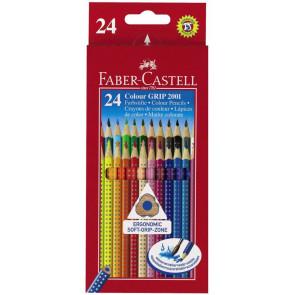 Faber Castell Farbstifte Grip Normal 24er Pappetui 112424